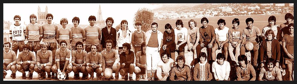 Les anciens joueurs de football de Mandelieu la Napoule